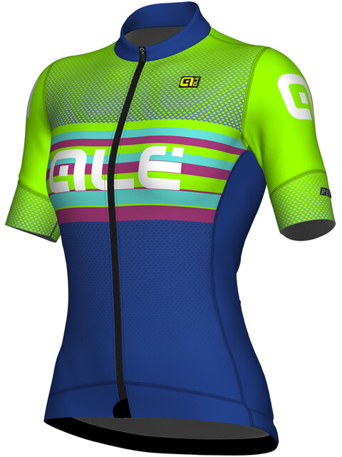 Alé Cycling R-EV1 Summer Short Sleeve Jersey Women blu light-fluo green